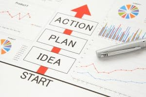 Business concepts, idea, plan and action